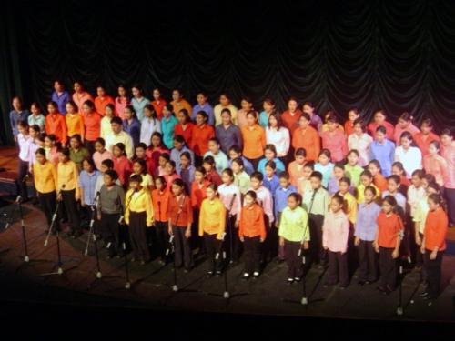 Chorale multicolore