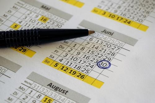 Prendre date dans son agenda